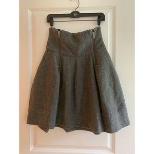 Balenciaga-esque bell shaped wool H&M skirt sz. 6